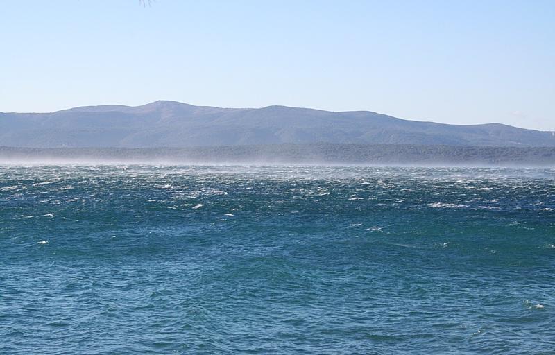 wiatr na wyspie Brač