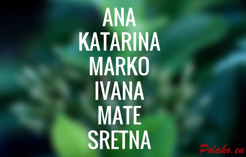 Chorwackie imiona