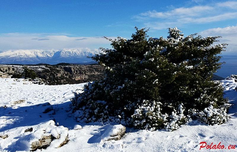 Śnieg na wyspie Brač