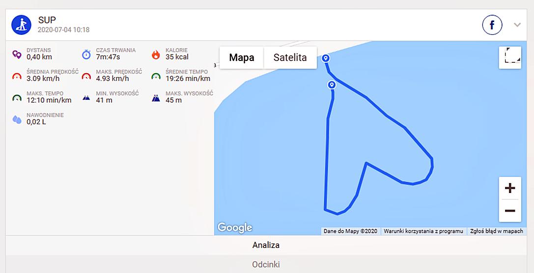 Mapa Endomondo